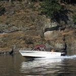 Boating around Galiano Island