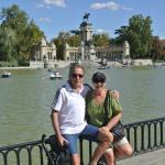 Disfrutando en el Parque del Retiro. Próximo al hotel.