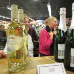 Wine tasting at our holiday open house