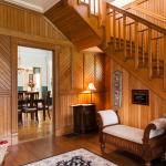 Our beautiful 1902 wood panelled foyer