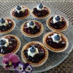 One of our welcome treats for guests, blueberry glazed tarts