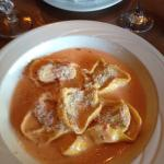 Beef and veal tortellacci with EXCELLENT creamy marinara sauce!