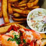 Lobster roll combo with fries