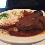 Lamb Shank with rice