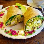 Delicious Curried Chicken Salad Wrap