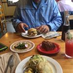 Tucking in at The Brass Buckle