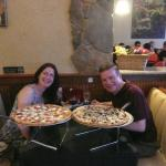 2 huge pizzas!