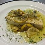 Swordfish in a lemon and butter sauce