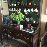 Lovely cupboard with antique with beautiful china