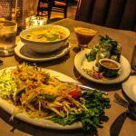 Papaya Salad and Tom Kha soup bowl