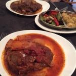 Mains beef stir ado and lamb kleftico