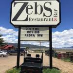 Sign outside of restaurant