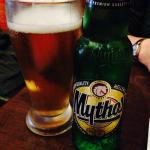 I'm pretty sure Zeus who hurls the lightening drinks Mythos