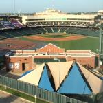 The Bricktown Ballpark as seen from our room