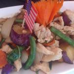 Drunken noodles and Siamese eggplant