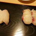 Omakase - Hirame, flounder (?) and madai, sea bream (?)