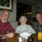 young lady celebrating her 92nd birthday in soverign pub