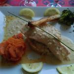 Le Risotto Calabrais et Saumon Vapeur Verrine Sauce Beurre Blanc