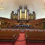 "When in Salt Lake City, Temple Square is the scene. ""Home"" of the Tabernacle Choir."