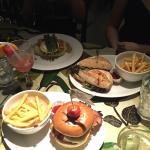 Classic Rainforest Steak Burger, Calypso Chicken Sandwich & Aztec Chicken