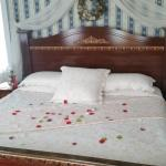 Flower petals on our bed