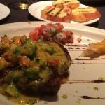 Sirloin with crawfish and avacado