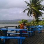 Vista desde el deck del restaurante