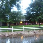 The cabins from the dock