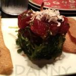 Poki - subtle yet well-seasoned Tuna. Great texture from the Wonton Chips