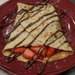 Strawberry and Nutella Crepe