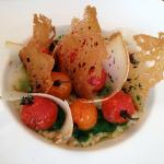 Risotto arborio with grilled cherry tomatoes, which was simply delicious