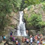 La Mina Falls are very popular.