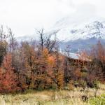 Andyna está ubicada al pie de los Andes y a orillas del Río Futaleufú
