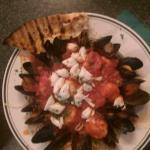 Seafood Fradiavolo - mussels, shrimp, scallops, crabmeat over linguini