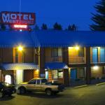 Hotel im Abendlicht