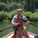 Guide rowing with my son