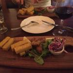 FISH AND CHIPS - panko crusted perch filets, polenta fat fries,
