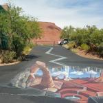 """Chalk art left over from the """"festival""""in June"""
