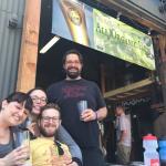 Delicious mid-ride beer at Santa Cruz Mountain Brewing