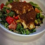 Pan fried herb crusted fish