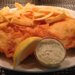 Jackson's fish & chips with homemade tartare sauce - delicious!