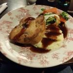 A meal at the pub next door which serves as the hotel restaurant