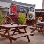 Seating outside The Cornishman