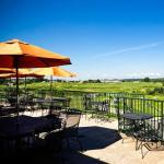 Patio view of Springwood Golf Course from Bogey Macaw's