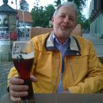 """Beer """"Black nun"""" in the glass """"Blond monk"""" :)"""