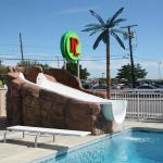 water slide & diving board