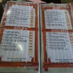 menu with delicious soups