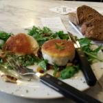 Salad with mascarpone