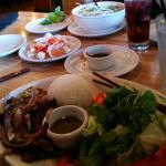 Beef Pho, Shaken Beef and Pickled Vegetables
