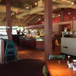 Inside looking at salad bar